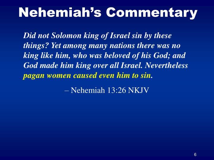 Nehemiah's Commentary