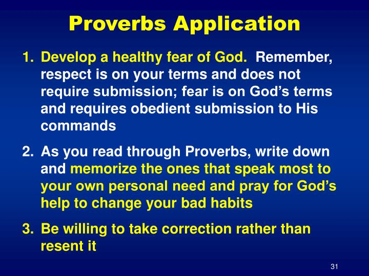Proverbs Application