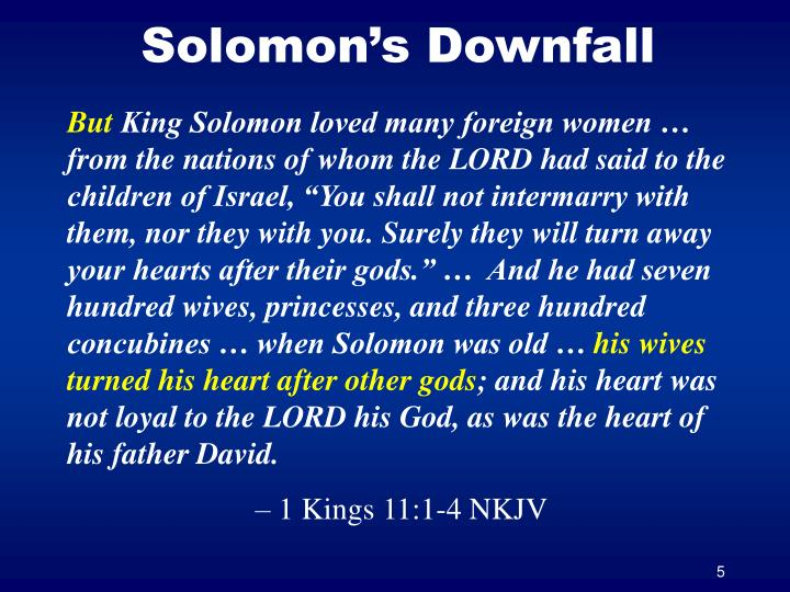 Solomon's Downfall