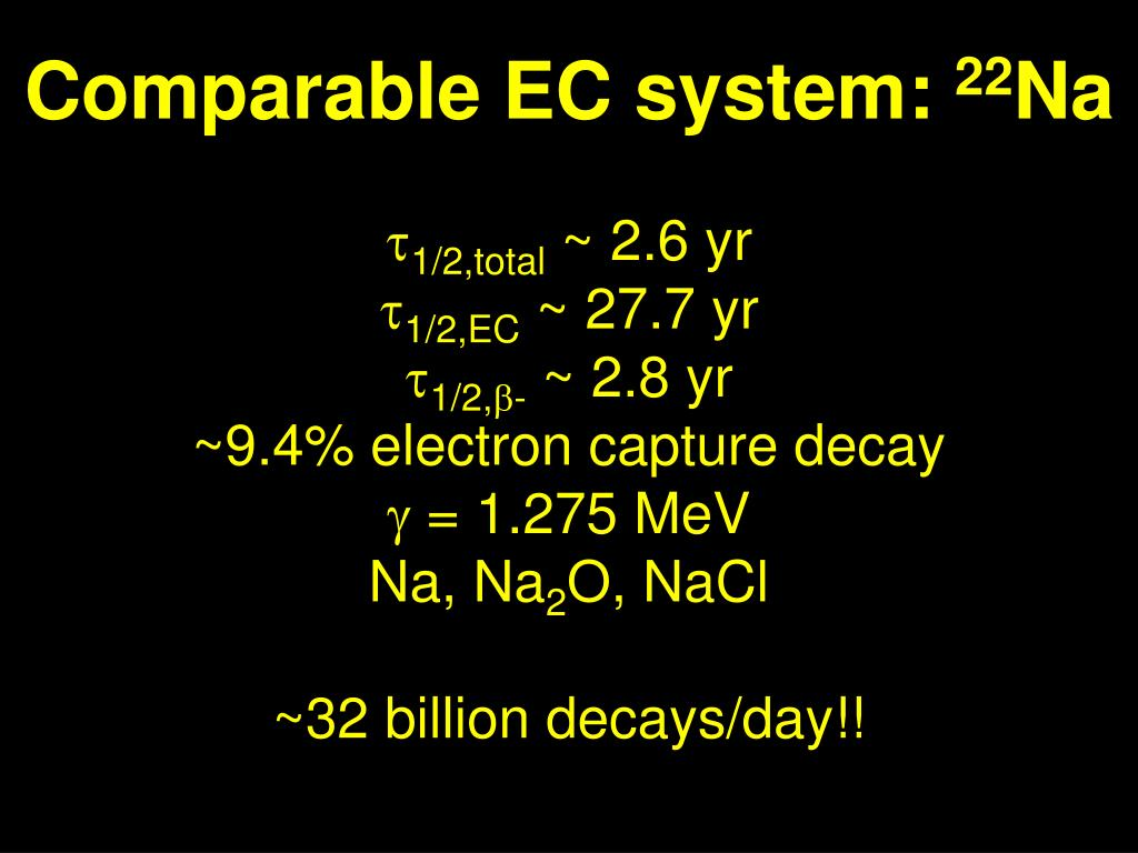 Comparable EC system: