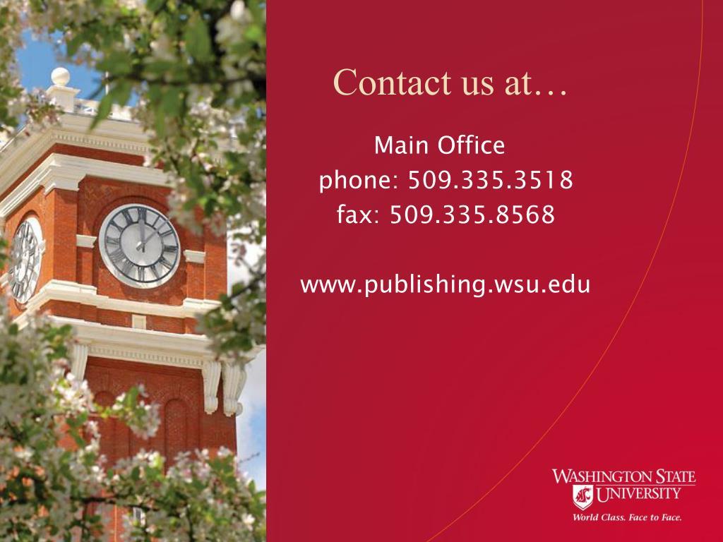 Contact us at…