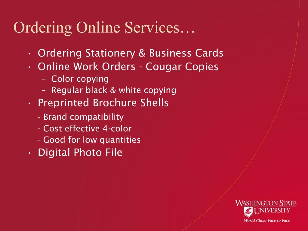 Ordering Online Services…