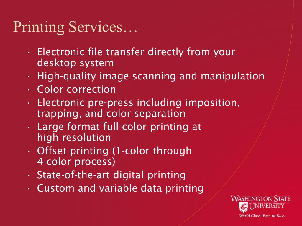 Printing Services…