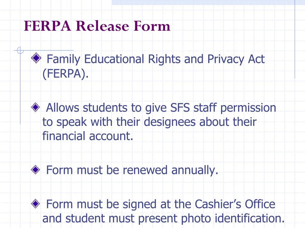FERPA Release Form