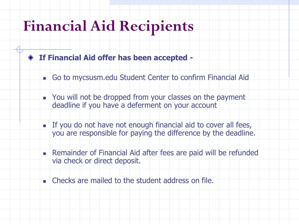 If Financial Aid offer has been accepted -