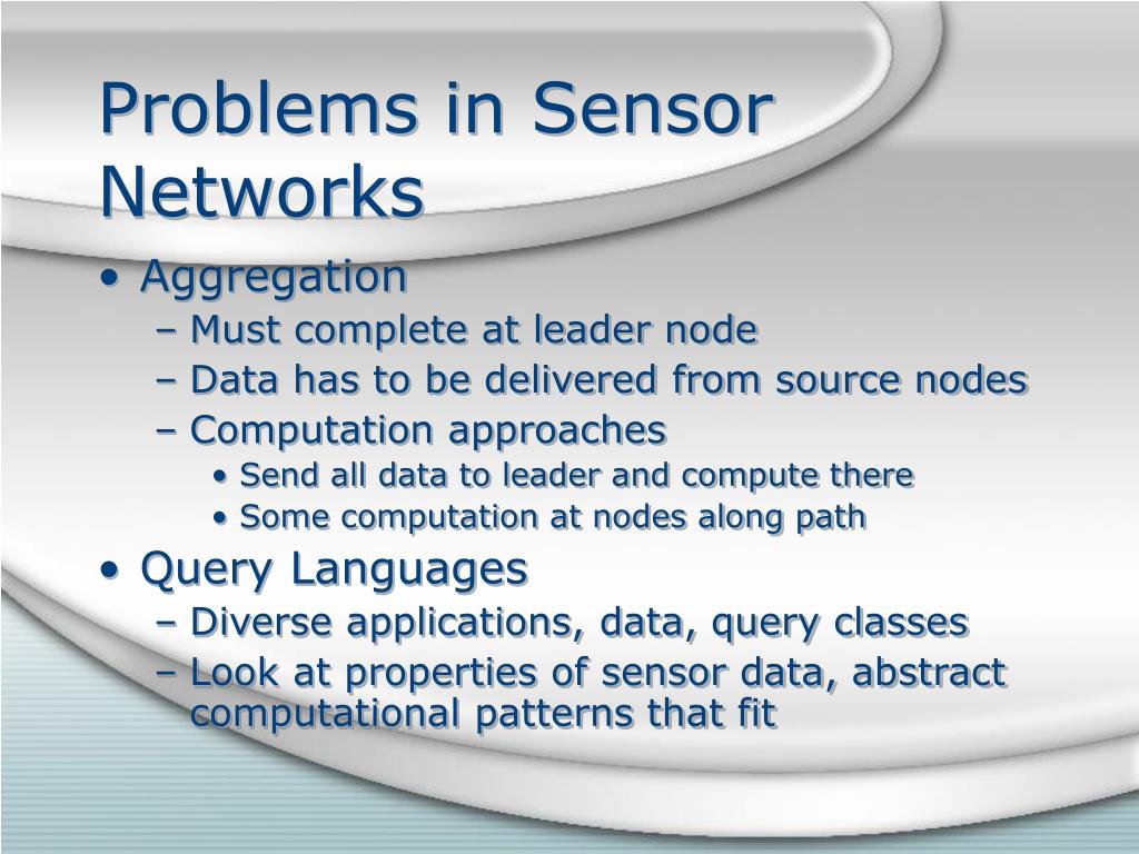 Problems in Sensor Networks