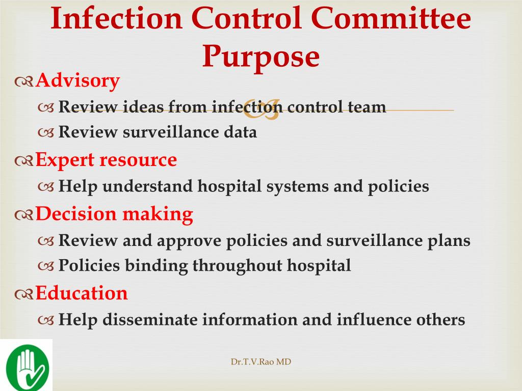 Infection Control Committee Purpose