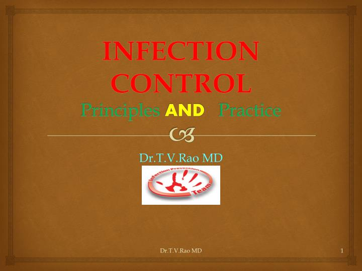 Infection control principles and practice