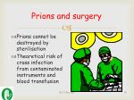 prions and surgery