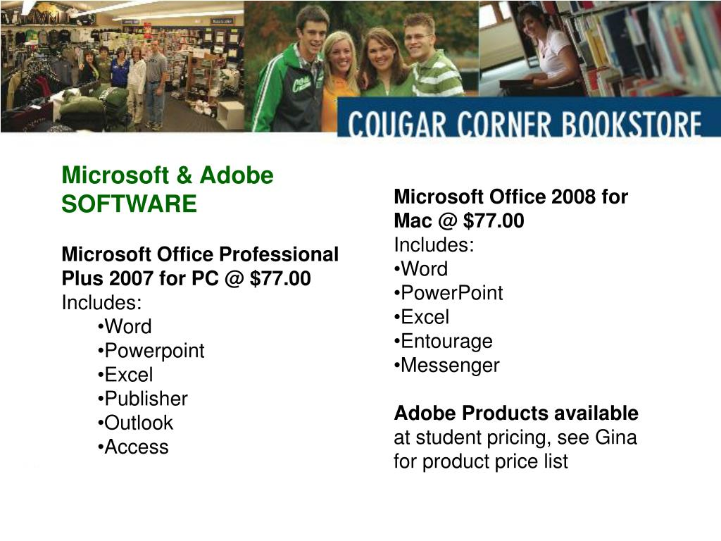 Microsoft & Adobe SOFTWARE