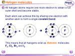 halogen molecules