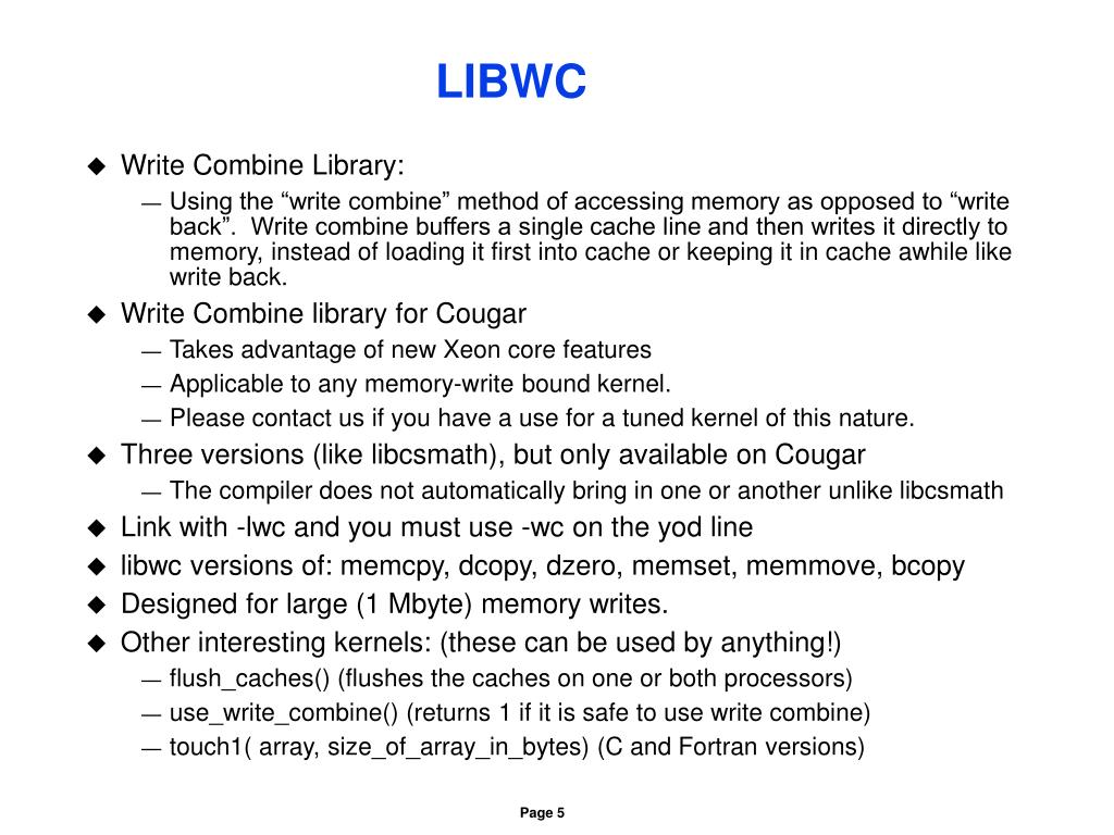 LIBWC