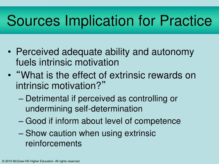 Sources Implication for Practice