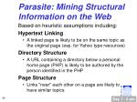 parasite mining structural information on the web