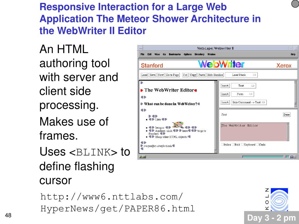 Responsive Interaction for a Large Web Application The Meteor Shower Architecture in the WebWriter II Editor