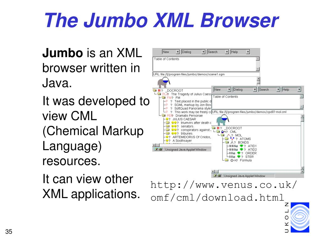 The Jumbo XML Browser