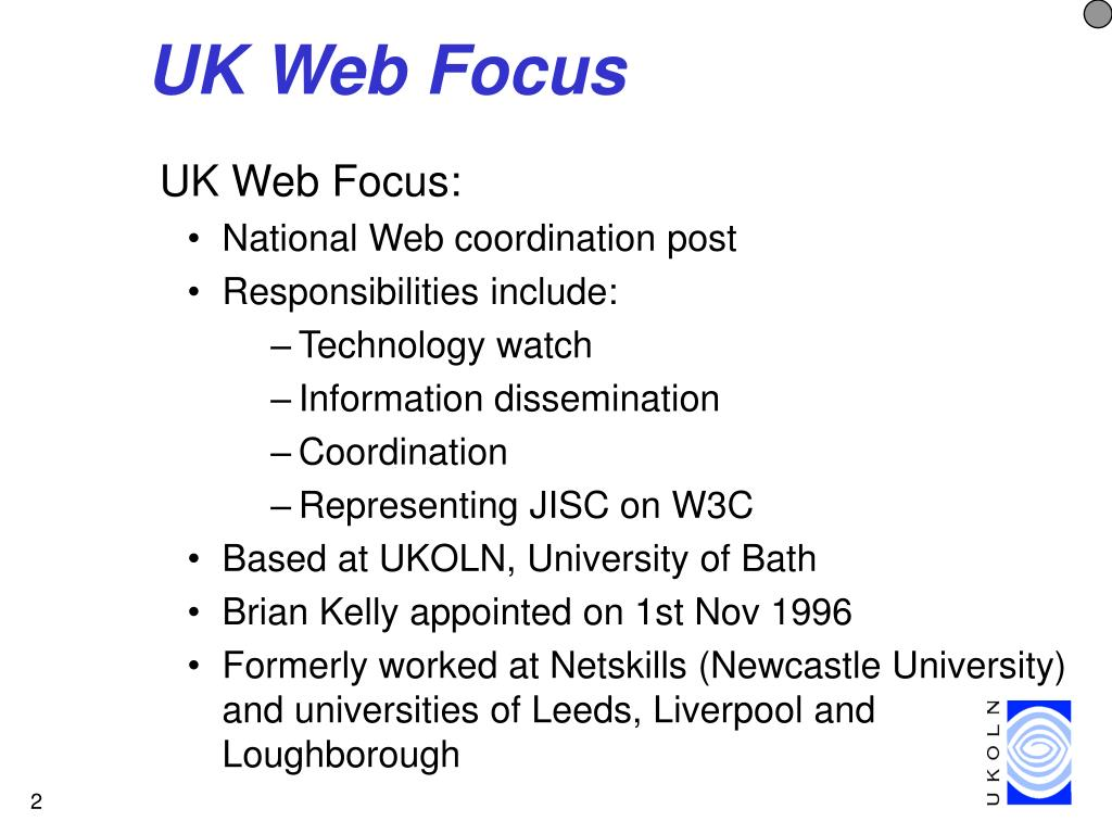 UK Web Focus