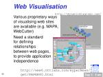 web visualisation