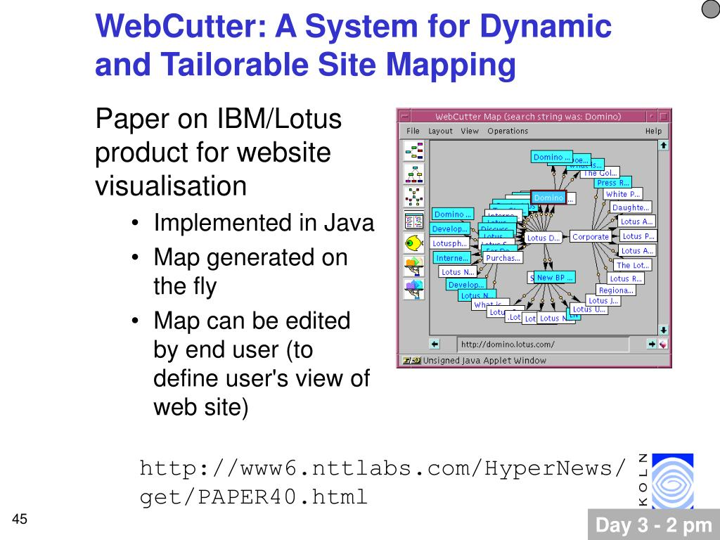 WebCutter: A System for Dynamic and Tailorable Site Mapping