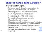 what is good web design