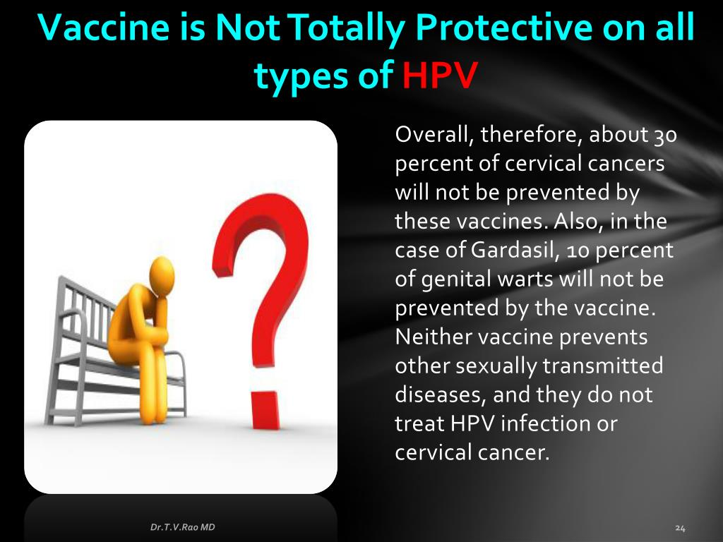 Vaccine is Not Totally Protective on all types of
