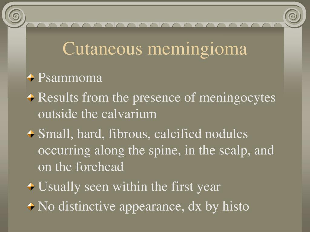 Cutaneous memingioma