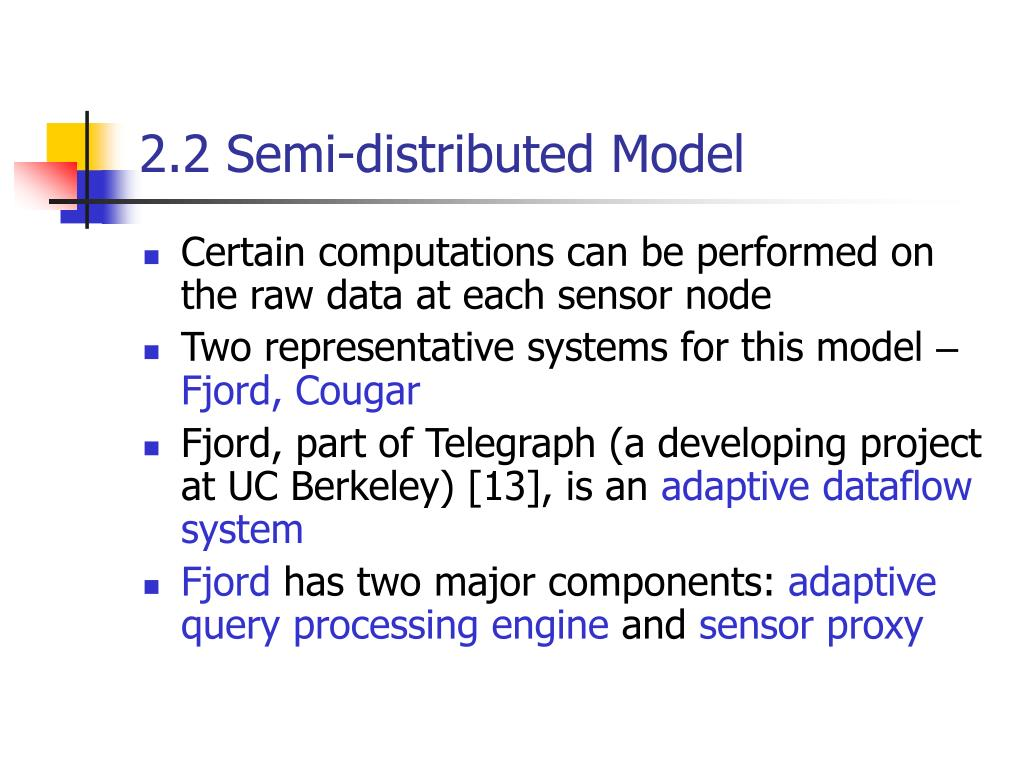 2.2 Semi-distributed Model