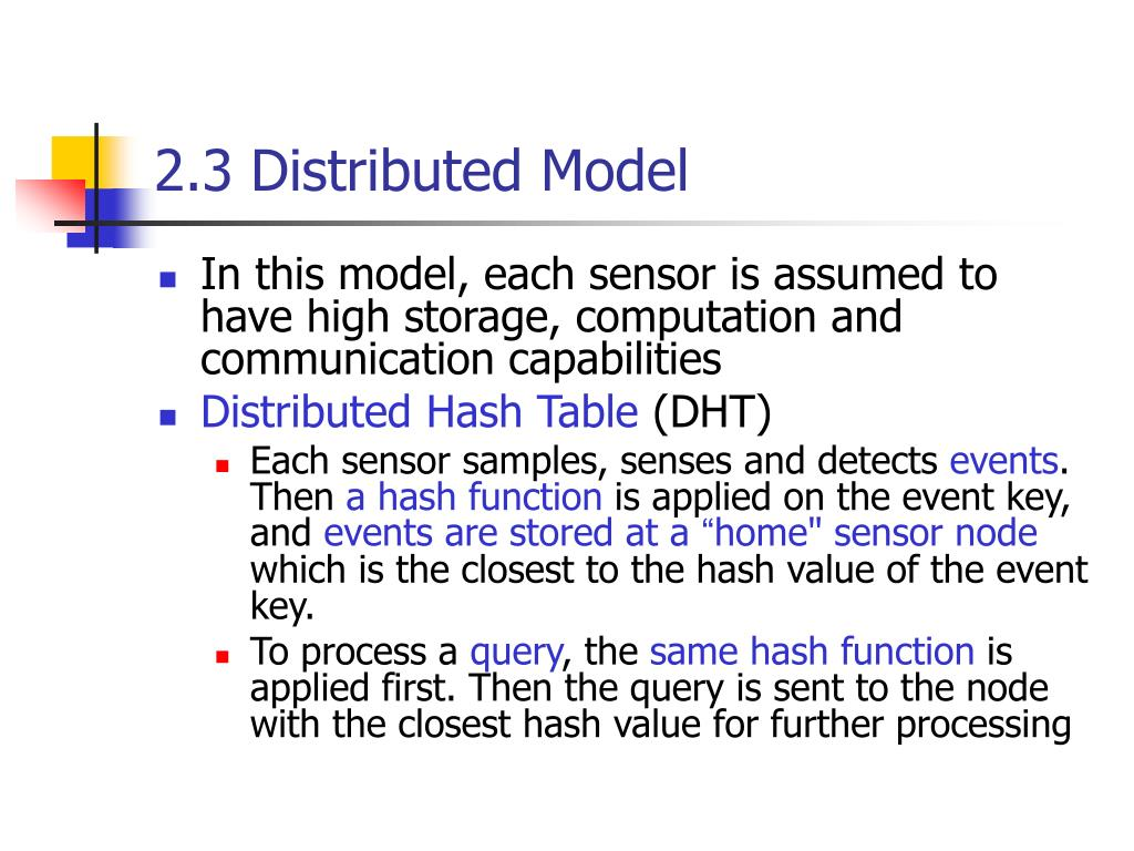 2.3 Distributed Model