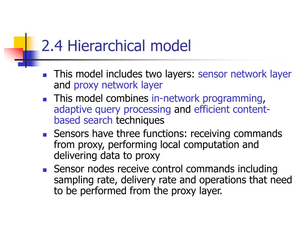 2.4 Hierarchical model