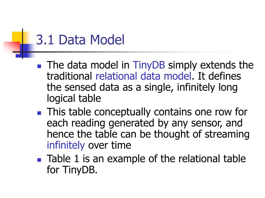 3.1 Data Model