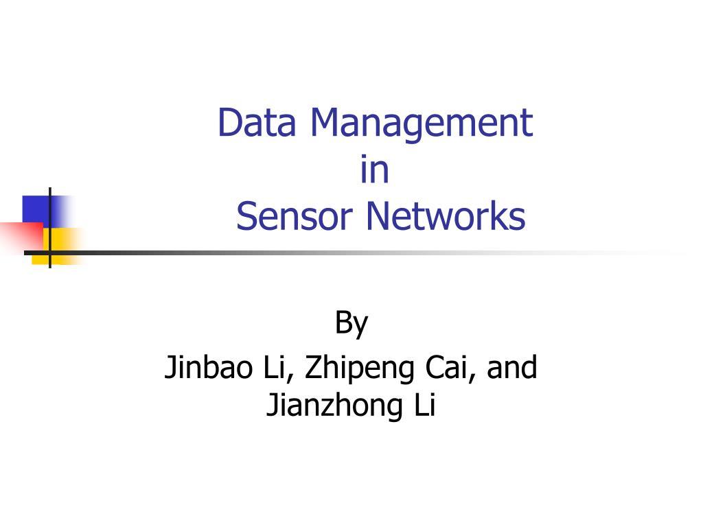 data management in sensor networks