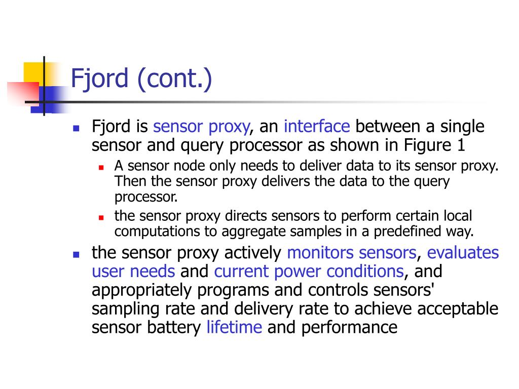 Fjord (cont.)