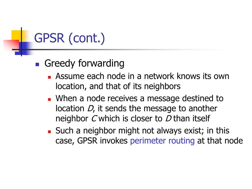 GPSR (cont.)