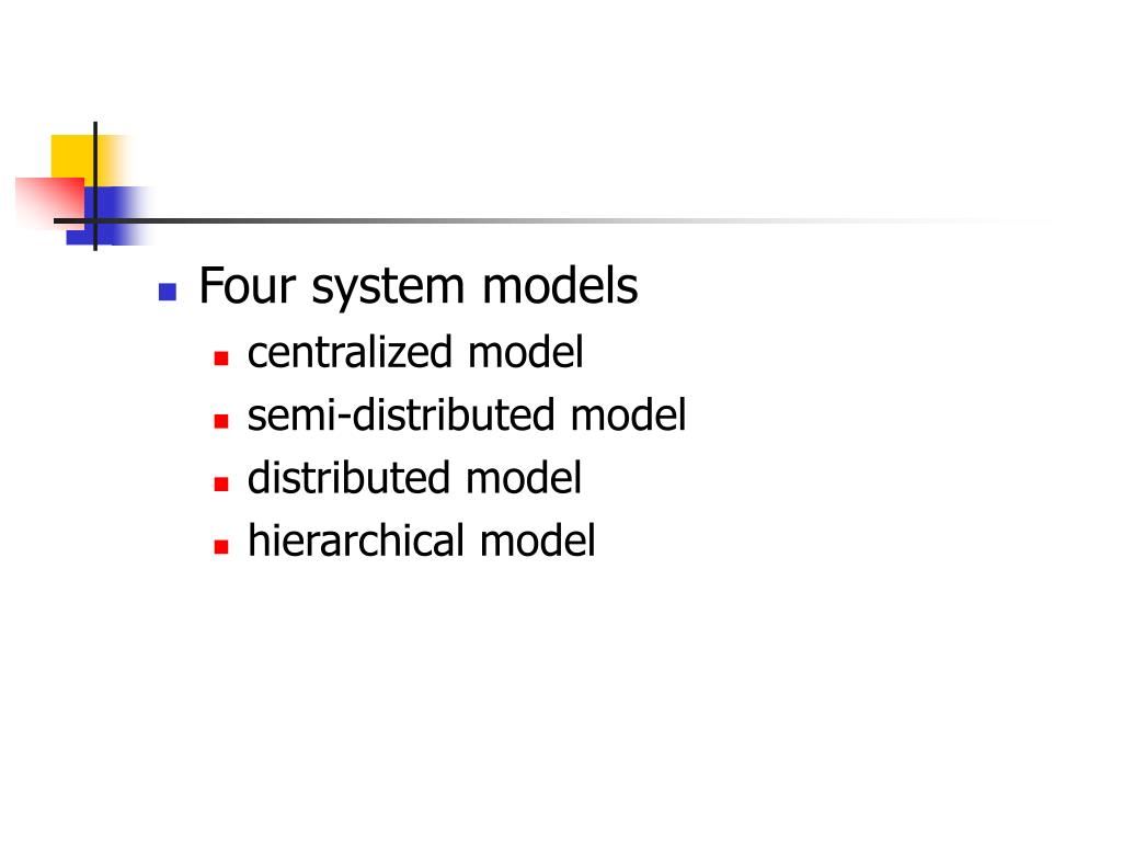 Four system models