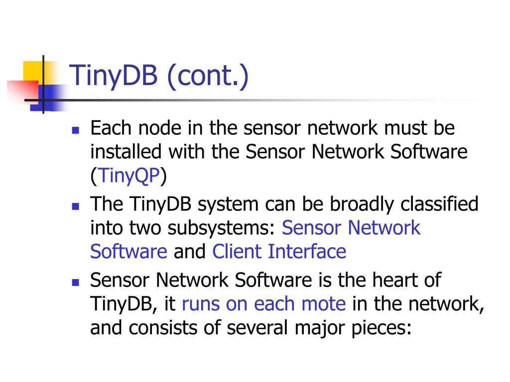 TinyDB (cont.)