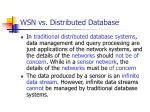 wsn vs distributed database