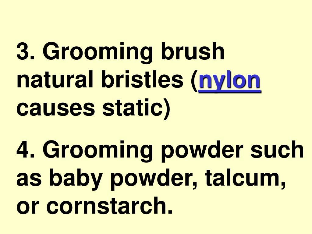 3. Grooming brush natural bristles (