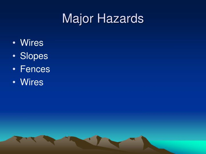 Major Hazards