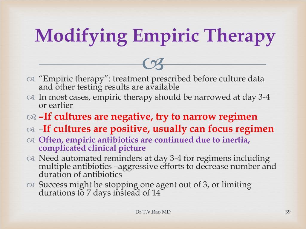 Modifying Empiric Therapy