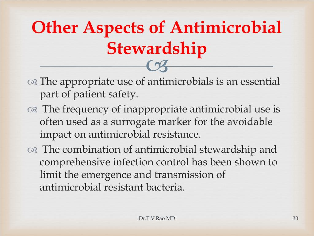 Other Aspects of Antimicrobial