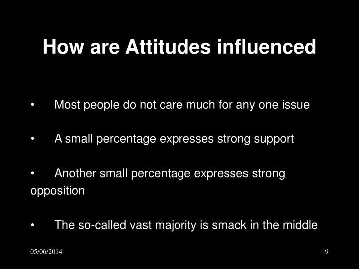 How are Attitudes influenced