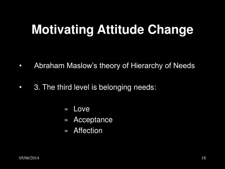 Motivating Attitude Change