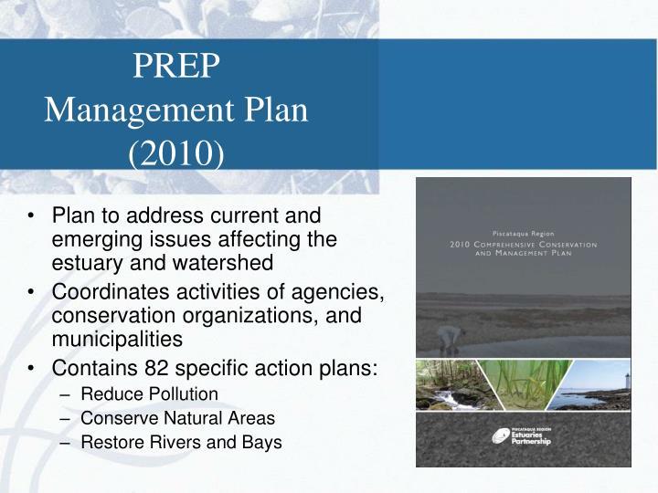 PREP Management Plan (2010)