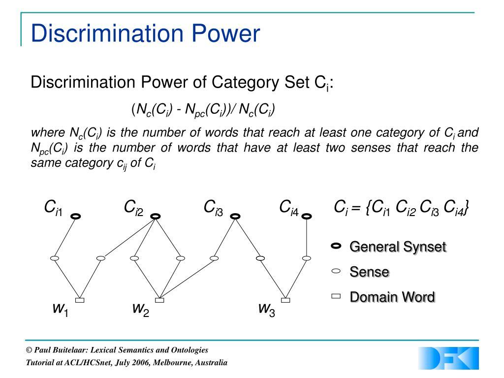 Discrimination Power