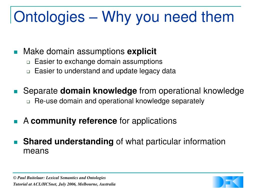 Ontologies – Why you need them