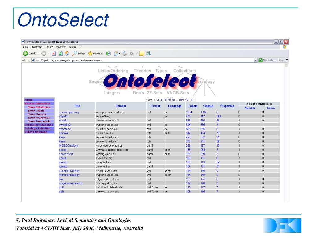 OntoSelect
