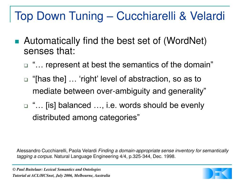 Top Down Tuning – Cucchiarelli & Velardi