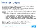wordnet origins
