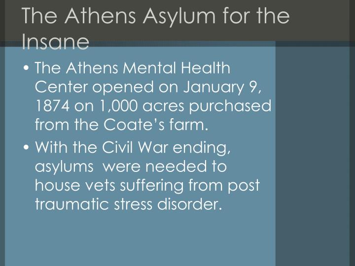 The Athens Asylum for the Insane