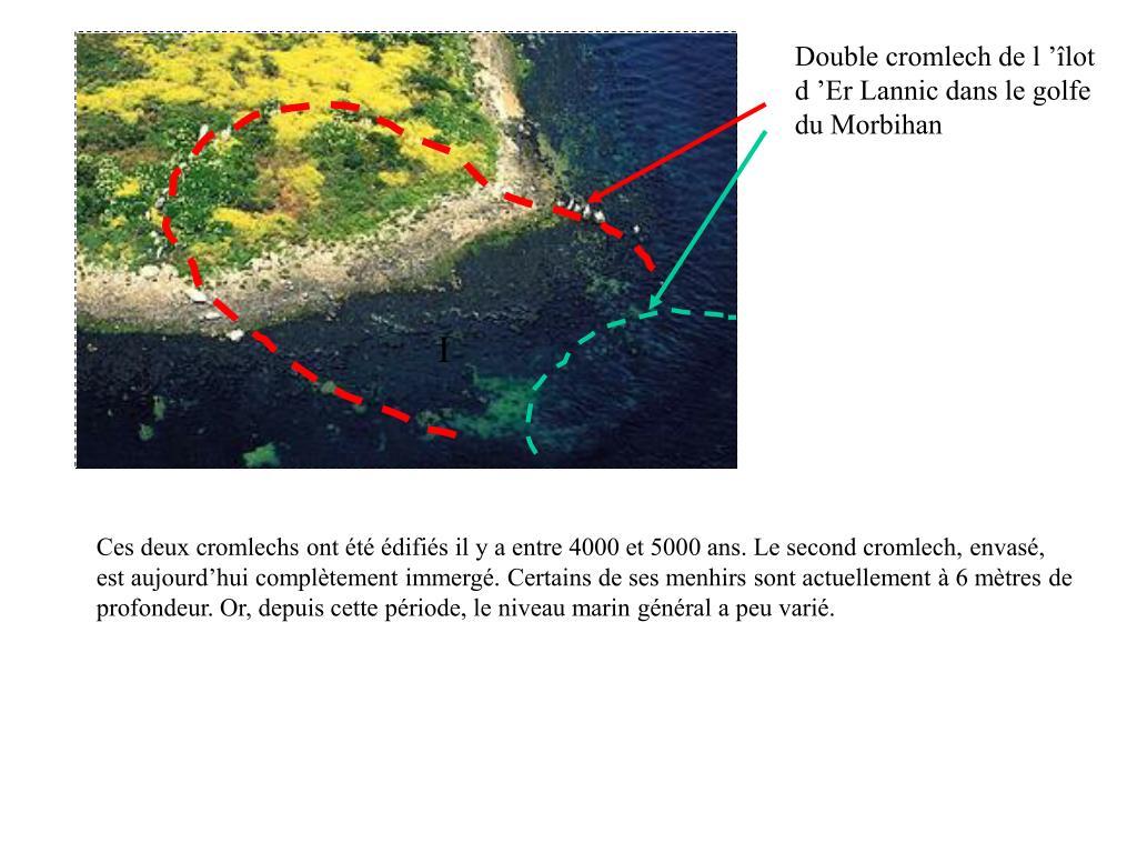 Double cromlech de l'îlot d'Er Lannic dans le golfe du Morbihan